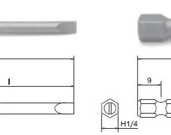 Hex 6.35mm drive slotted - 3